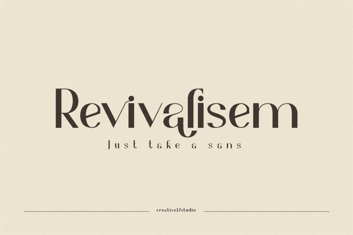 Revivalisem in Sans Serif Fonts