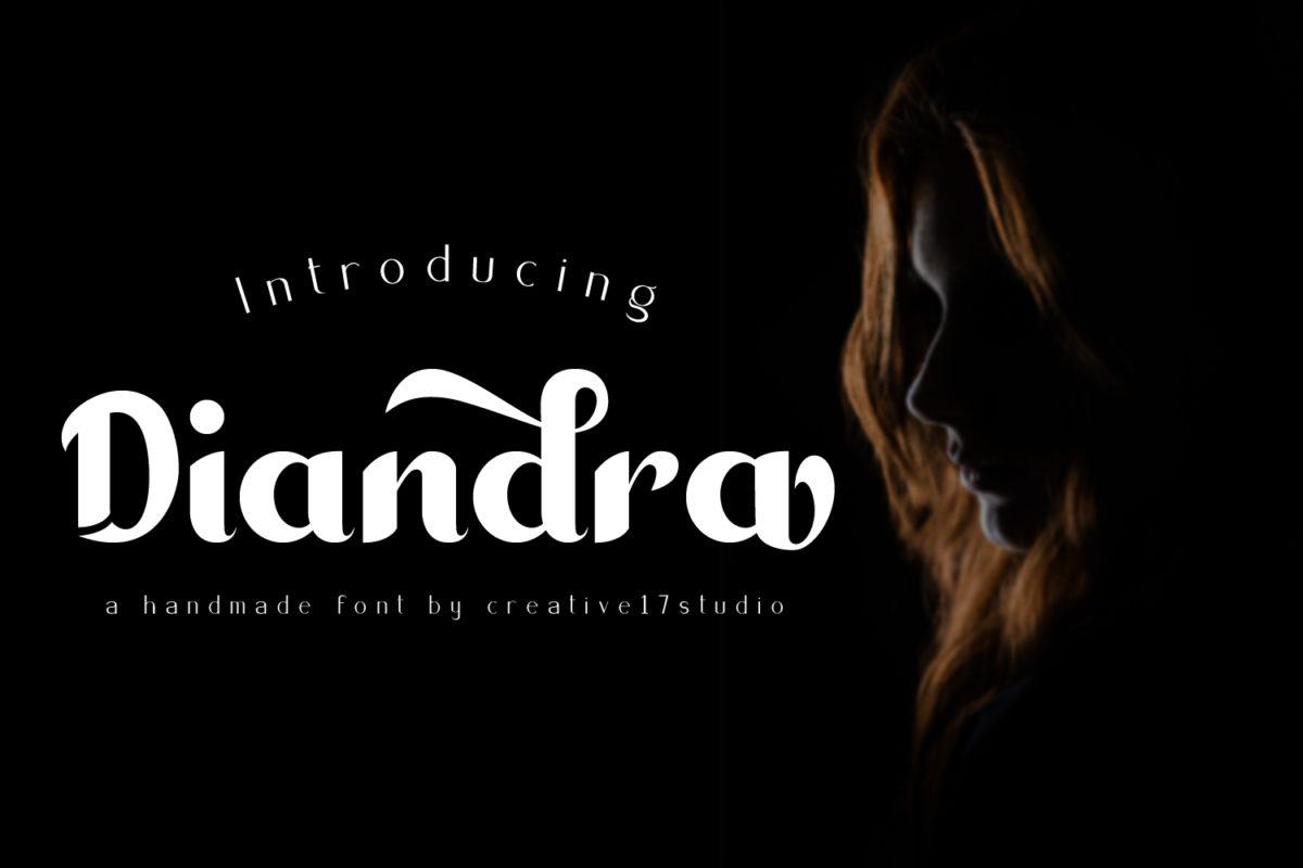 Diandra Bold Handwriting in Handwriting Fonts
