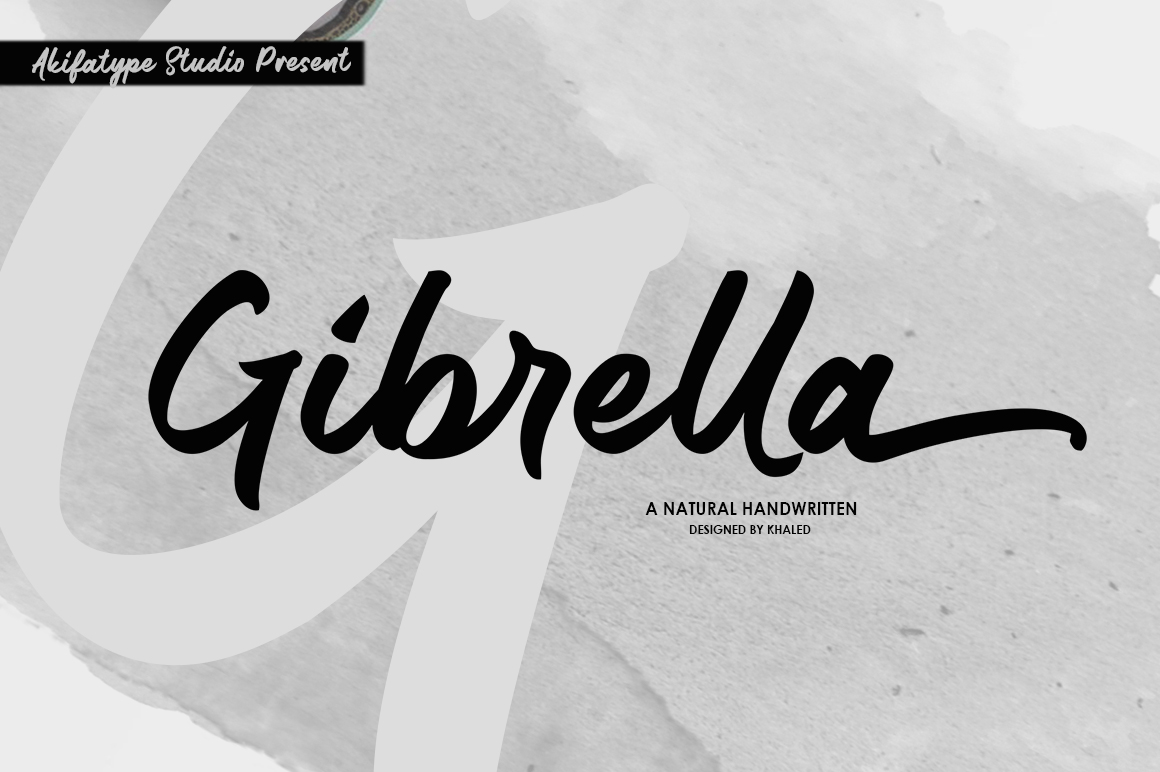 Gibrella in Script Fonts