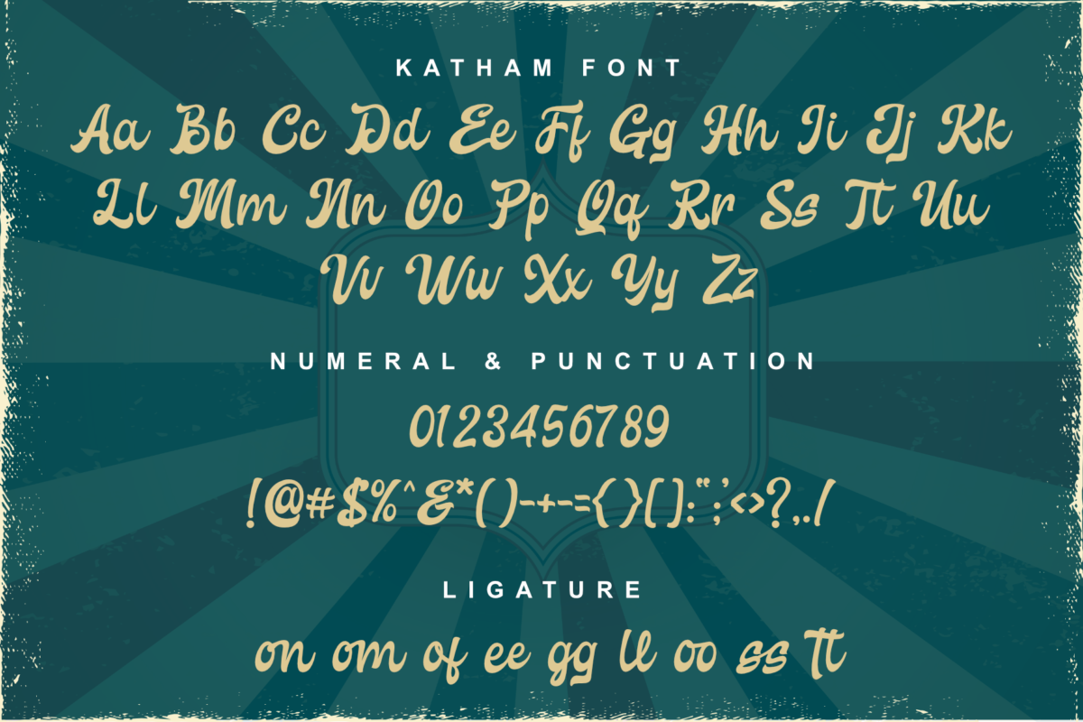 Katham - Retro Style in Display Fonts