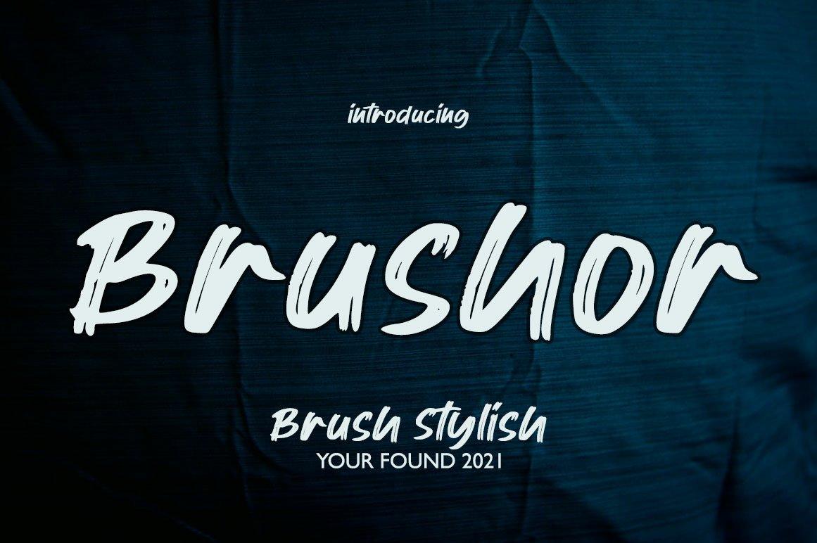 Brushor in Brush Fonts