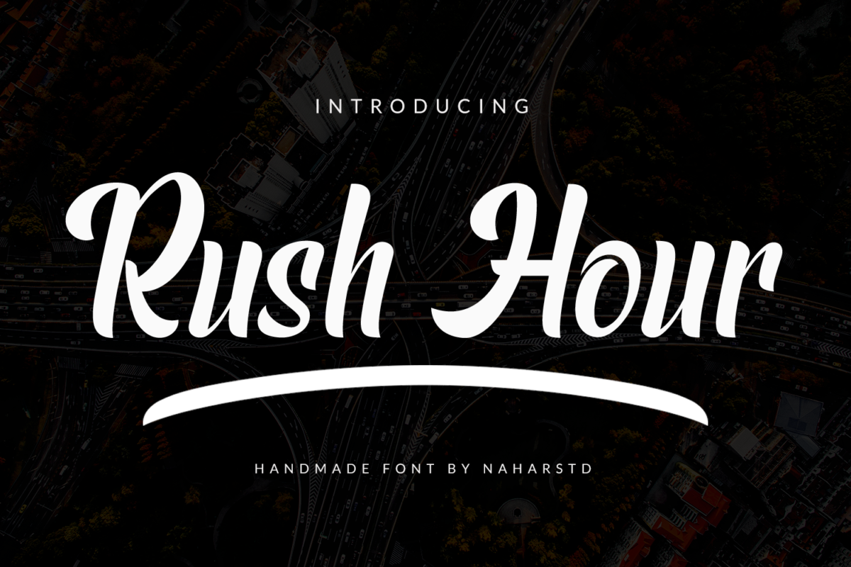 Rush Hour - Modern Display Font in Display Fonts