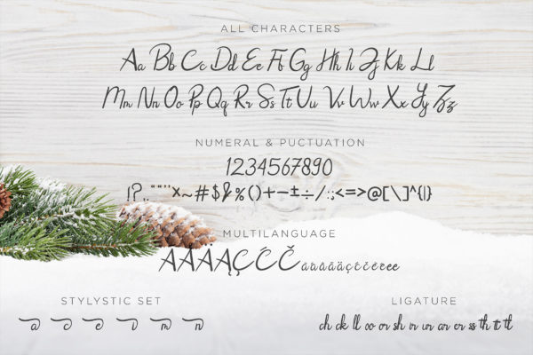 Rhoselinna - Handwritten Font in Calligraphy Fonts
