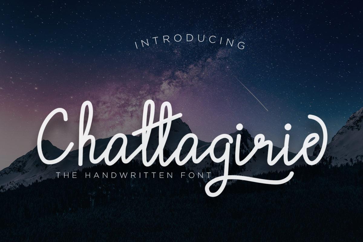 Chattagirie - Handwritten Font in Calligraphy Fonts