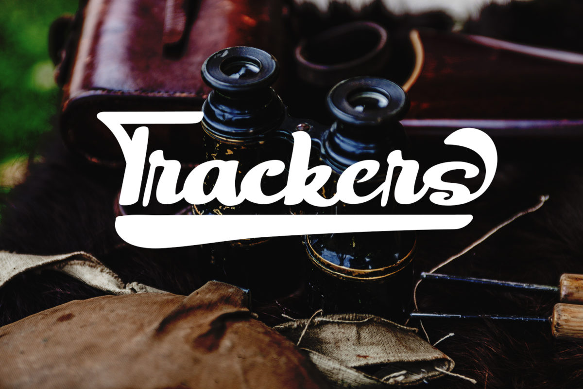 Trackers - Bold Script in Display Fonts