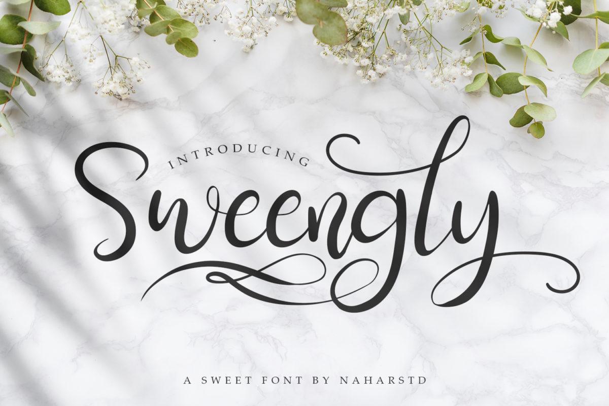Sweengly - Modern Script Font in Script Fonts