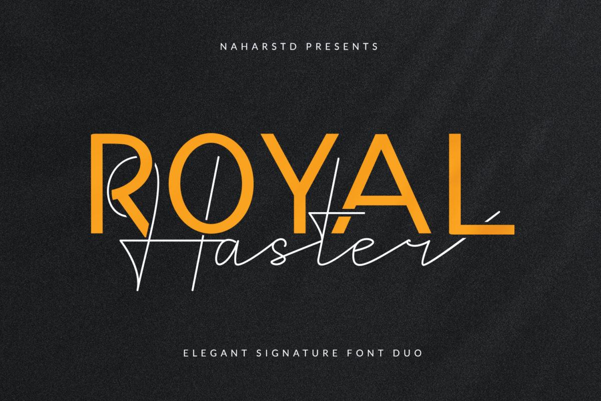 Royal Haster - Elegant Signature Font Duo in Handwriting Fonts