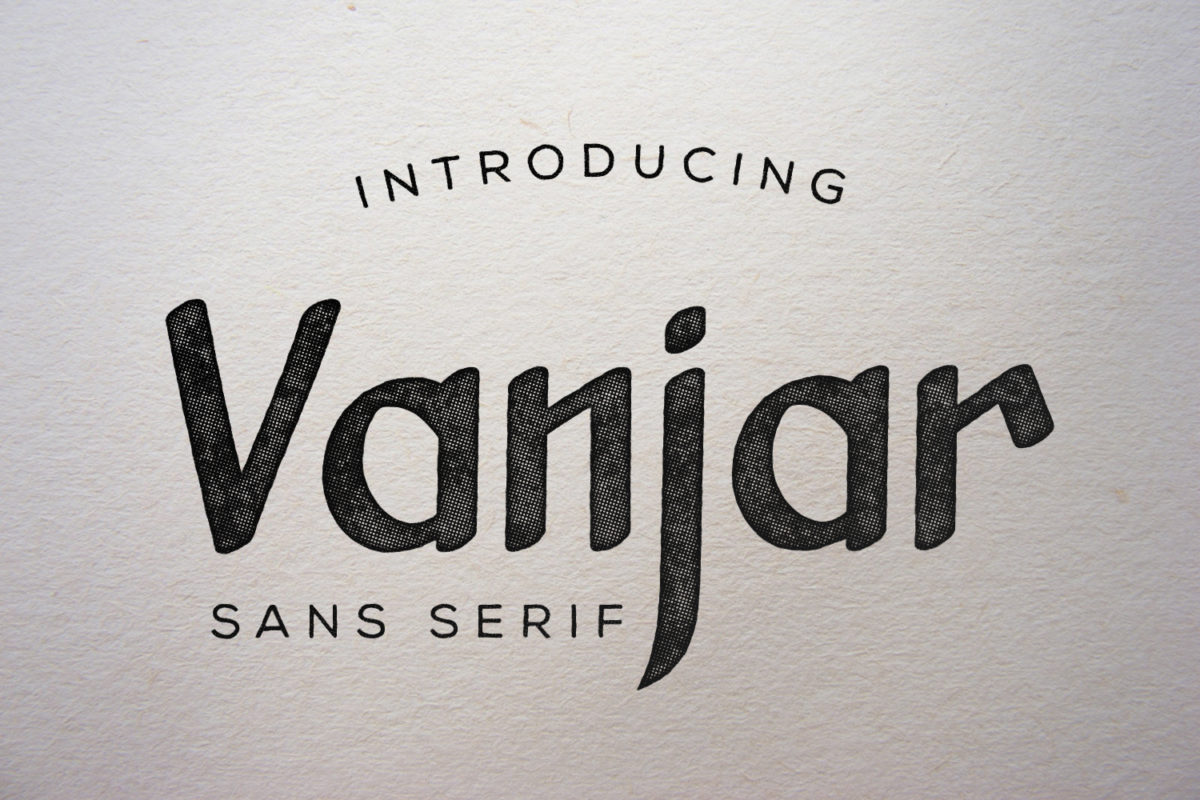 Vanjar - Sans Serif Font in Display Fonts