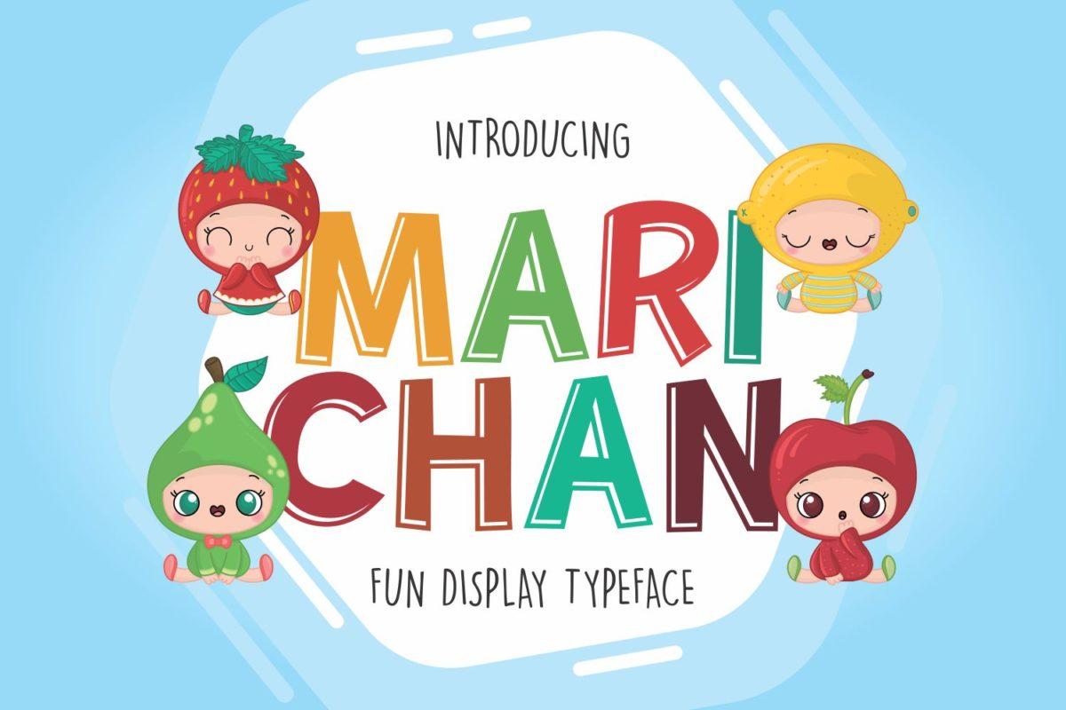 Marichan in Display Fonts