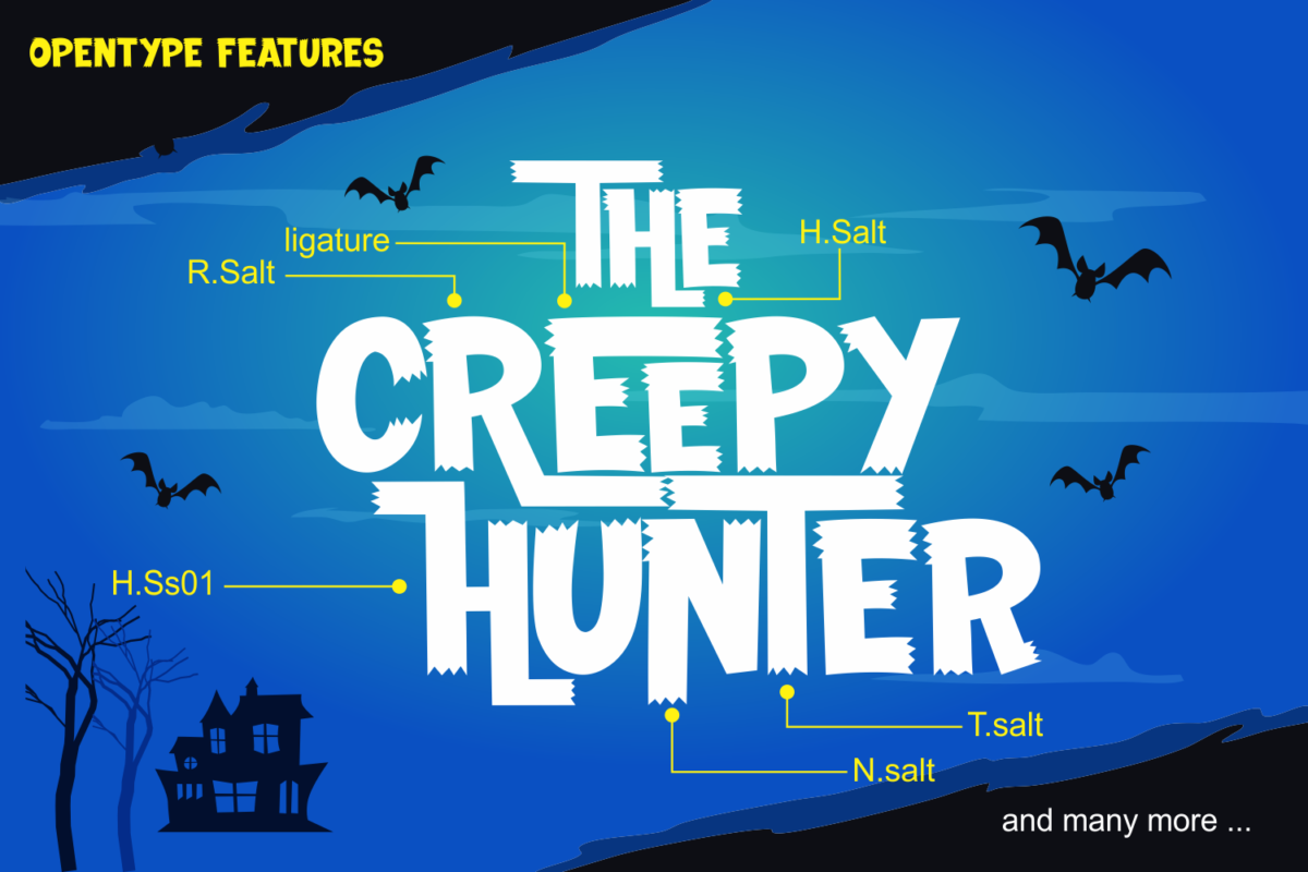 The Creepy Hunter in Display Fonts