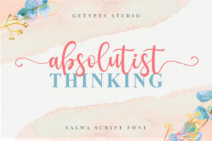 Salwa Script - Romantic Lovely Font in Calligraphy Fonts