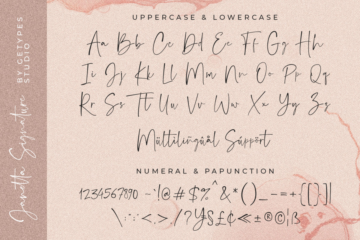 Janetta Signature - New Organic Font in Handwriting Fonts