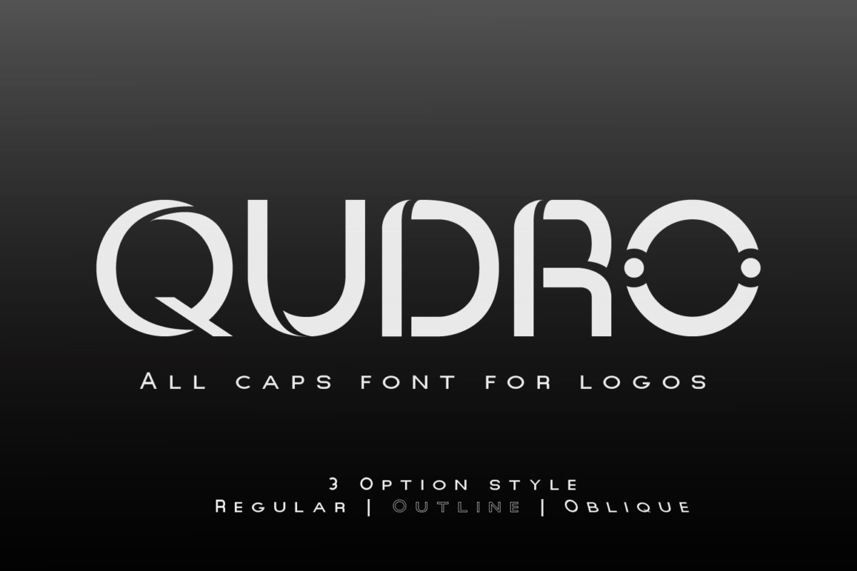 Qudro in Sans Serif Fonts