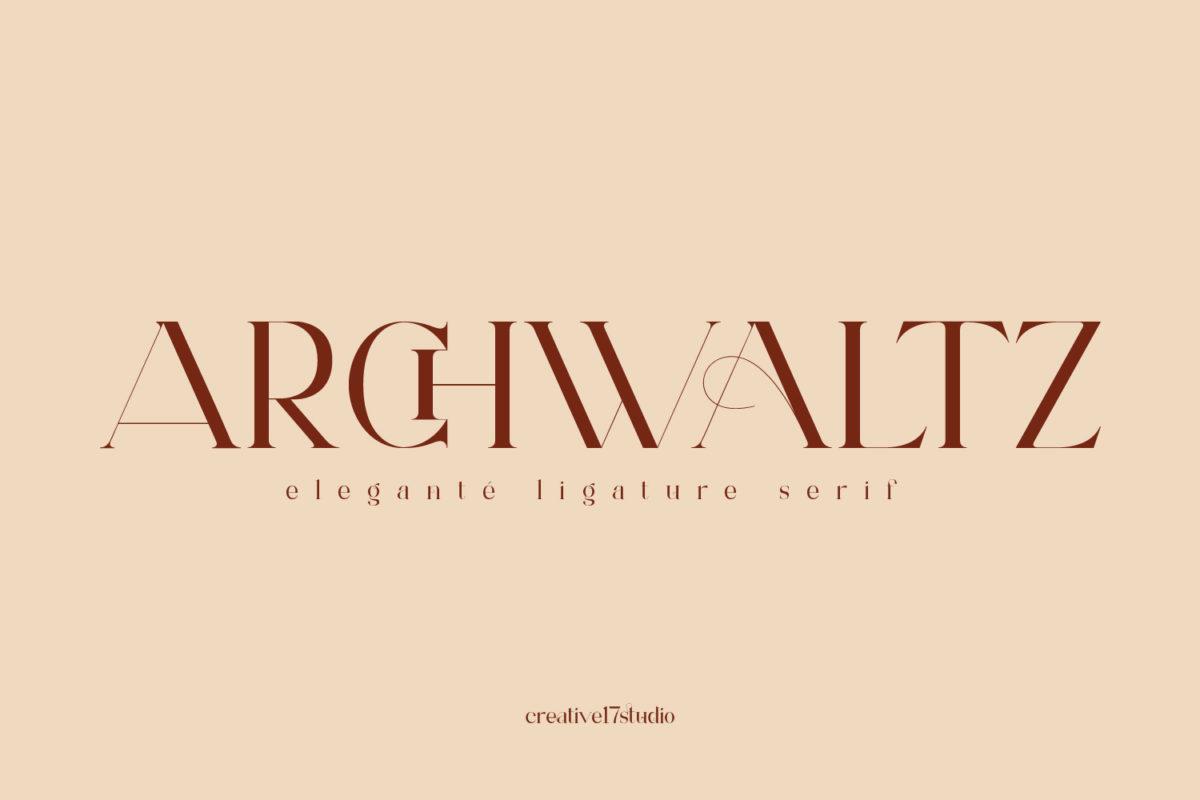 Archwaltz ligature serif font in Serif Fonts