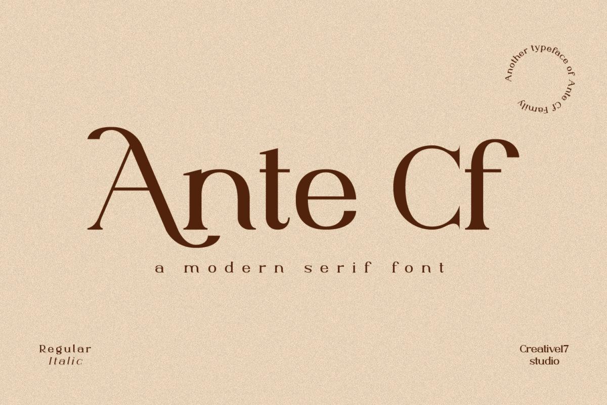 Ante Cf Serif in Serif Fonts