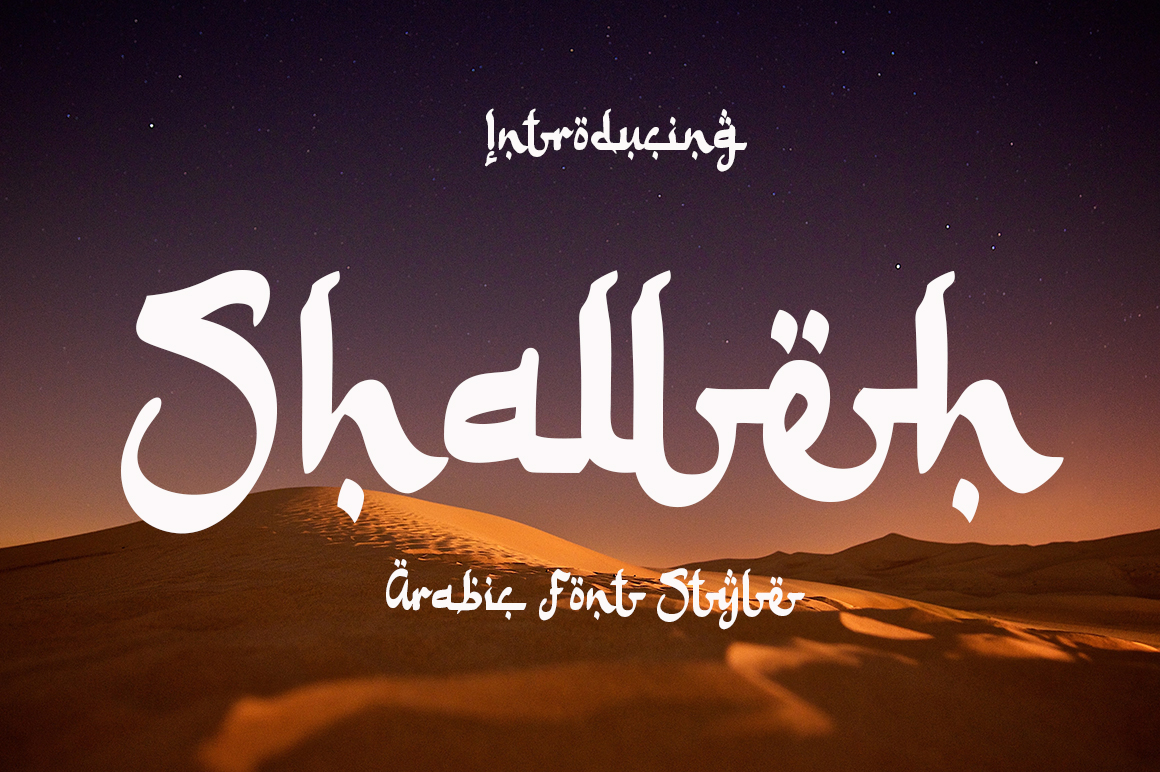Shalleh - Arabic Style in Calligraphy Fonts