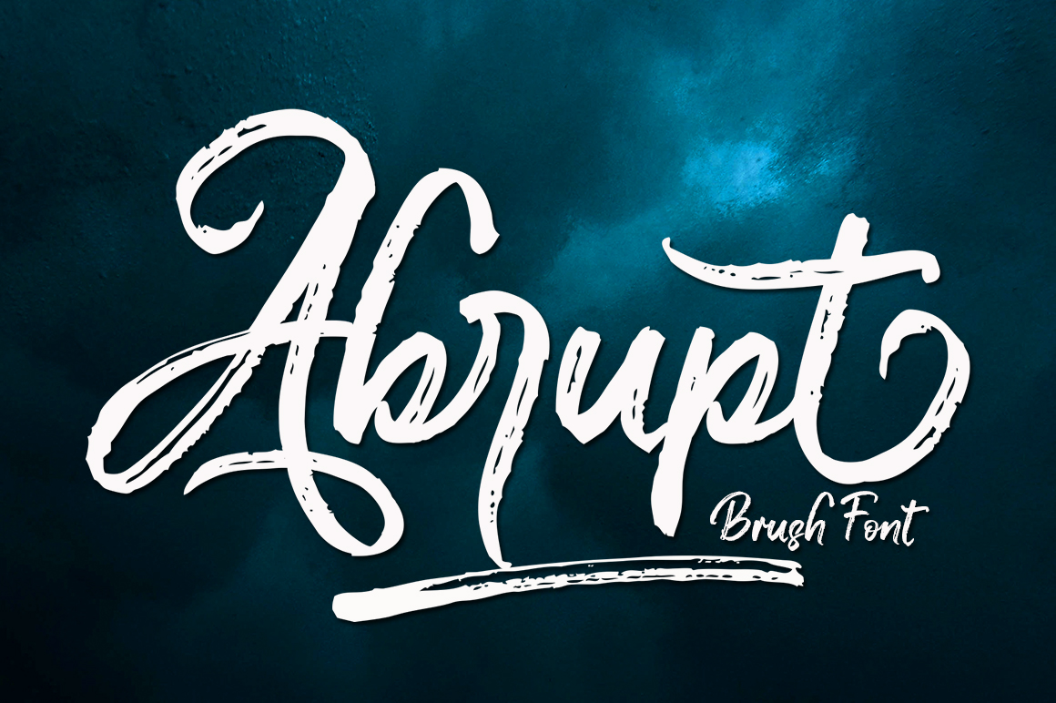 Abrupt in Brush Fonts