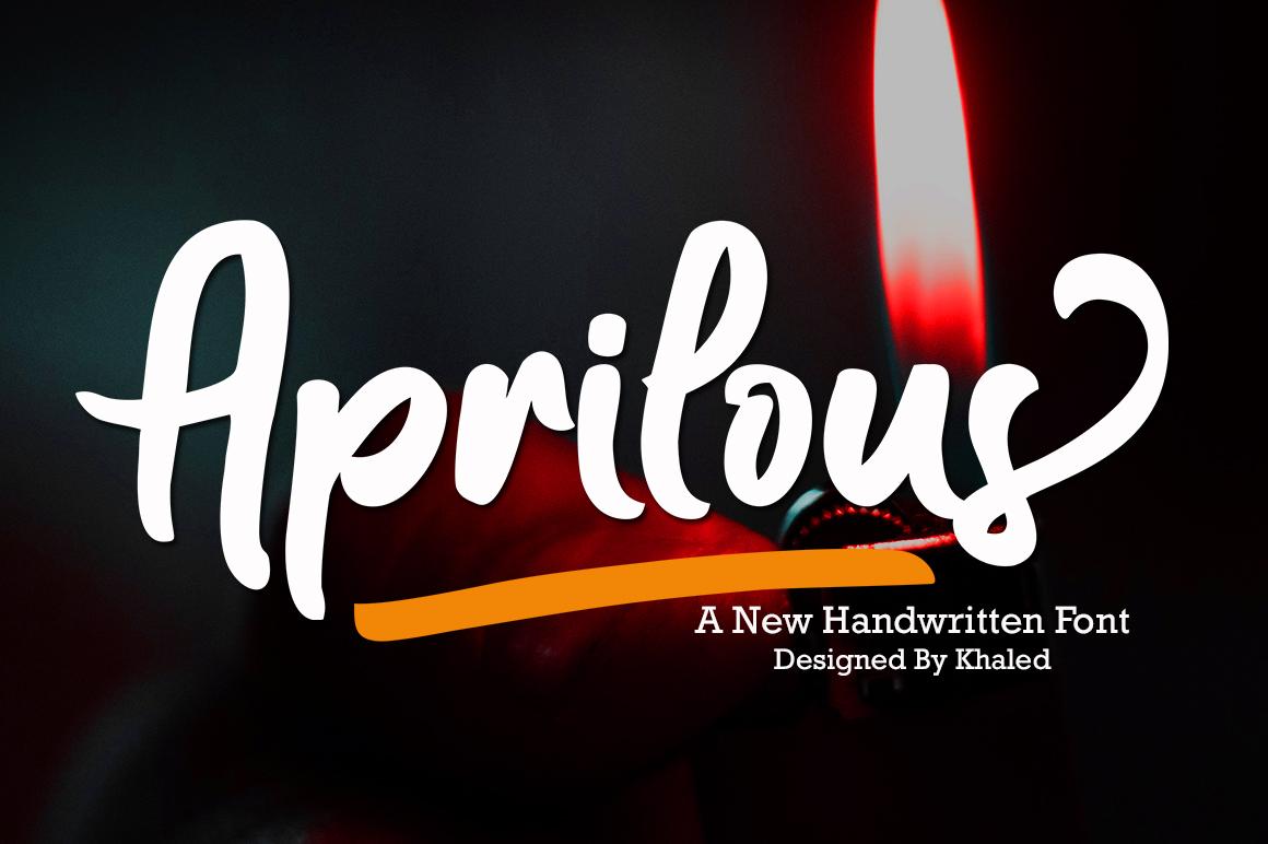 Aprilous in Script Fonts