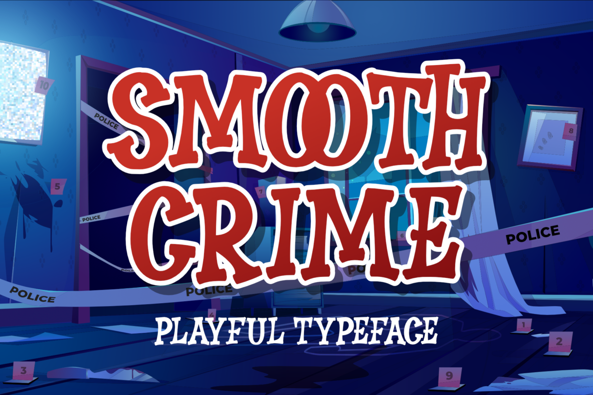 Smooth Crime in Display Fonts