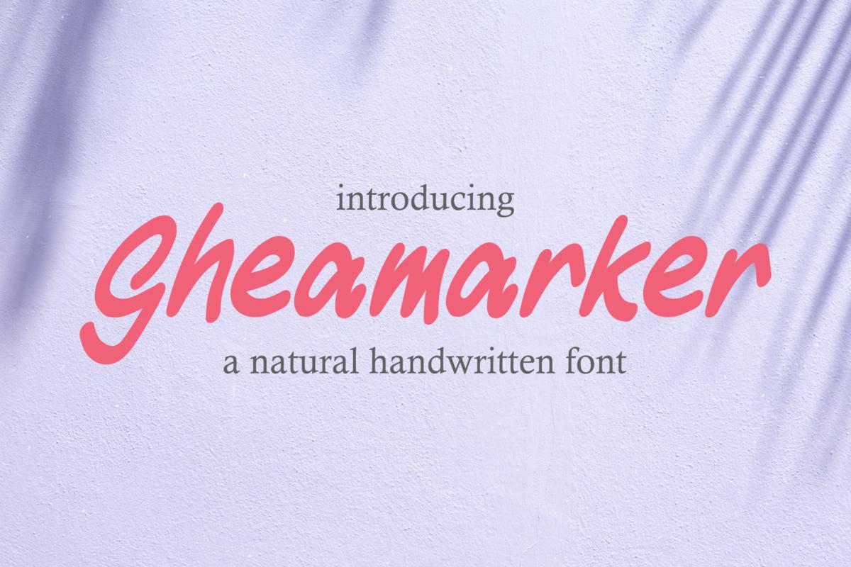 Gheamarker - Italic Handwritten in Handwriting Fonts
