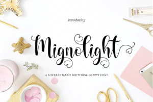 Mignolight in Calligraphy Fonts