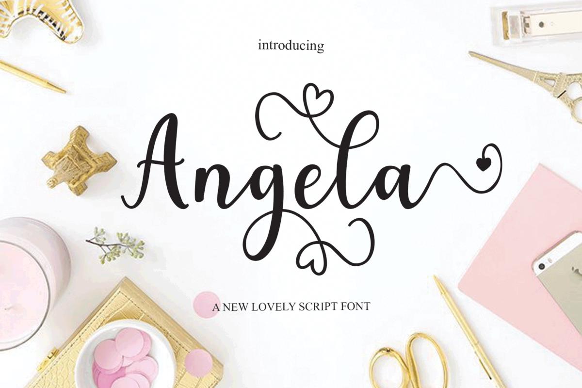 Angela in Script Fonts
