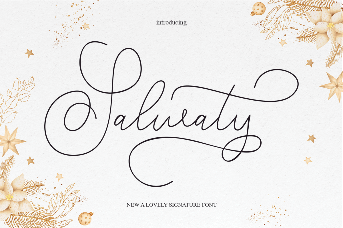 Salwaty in Calligraphy Fonts