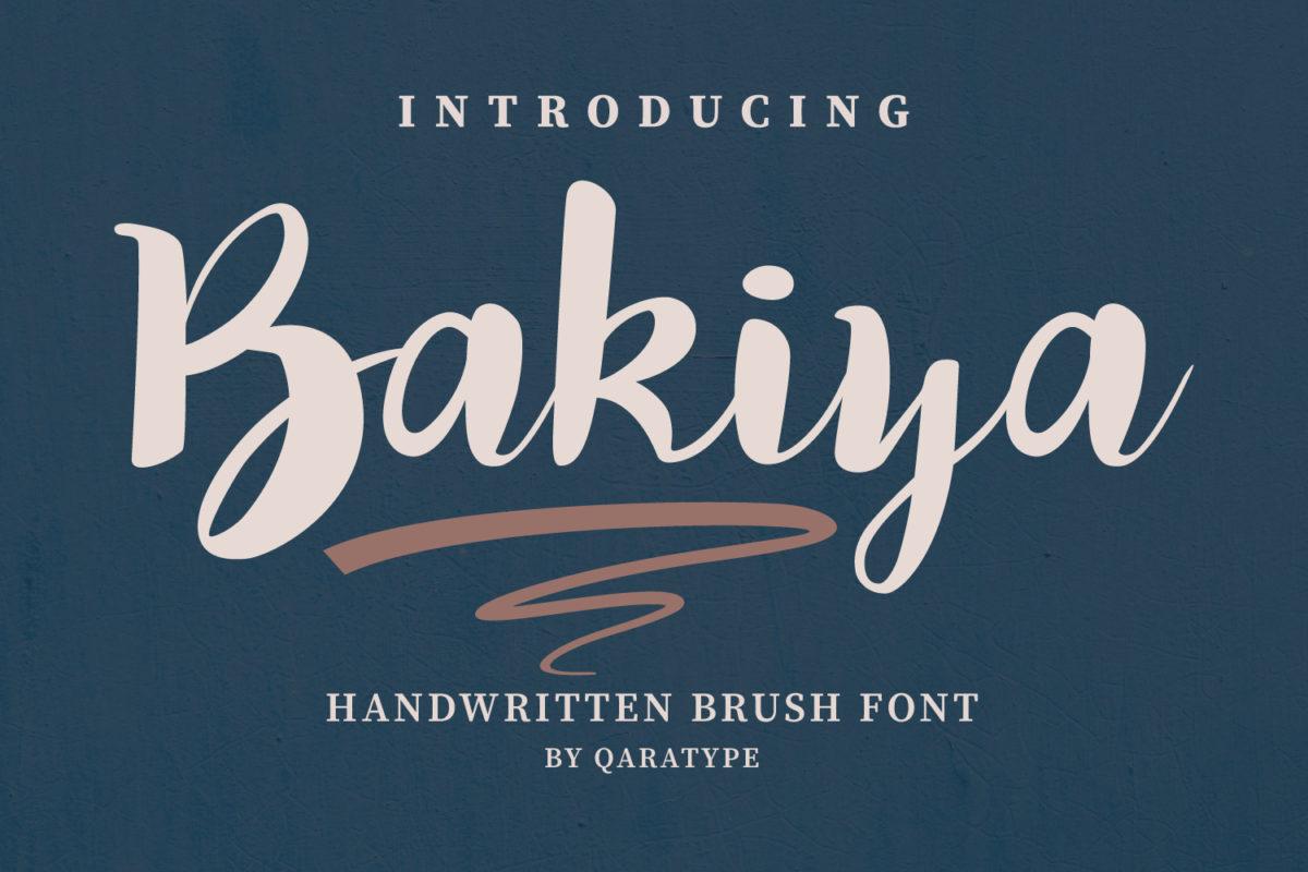 Bakiya - Handwritten Brush Font in Script Fonts