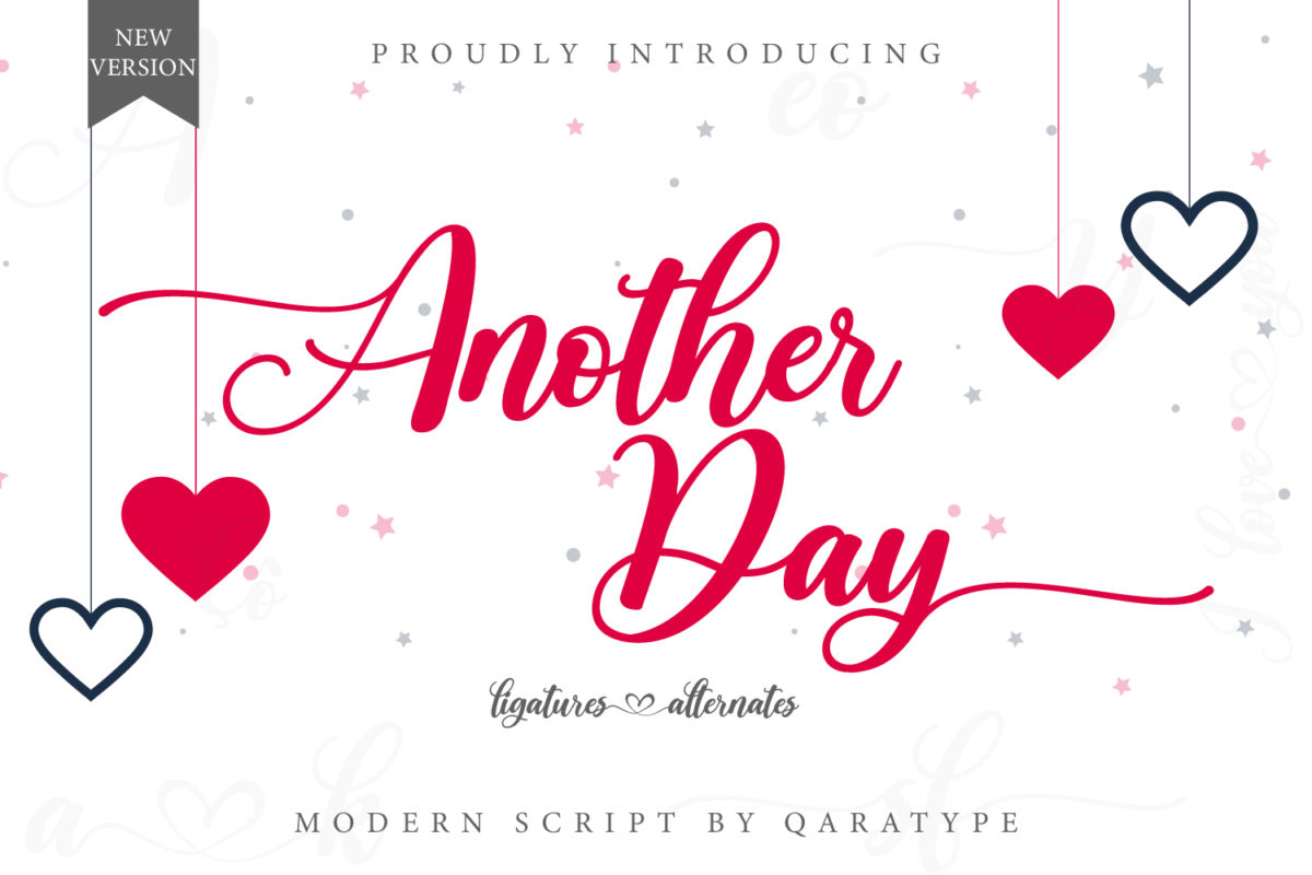 Another Day V2 - Modern Script in Calligraphy Fonts