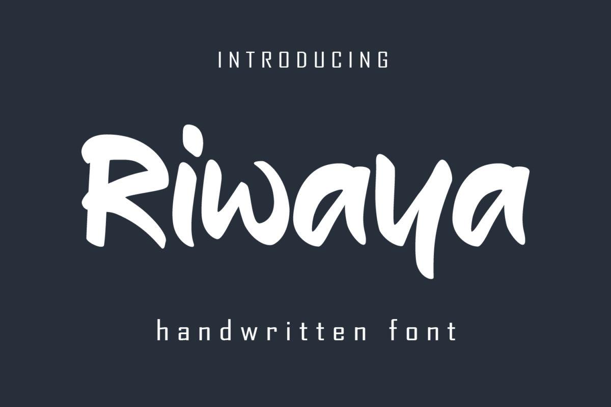 Riwaya - A Handwritten Font in Handwriting Fonts