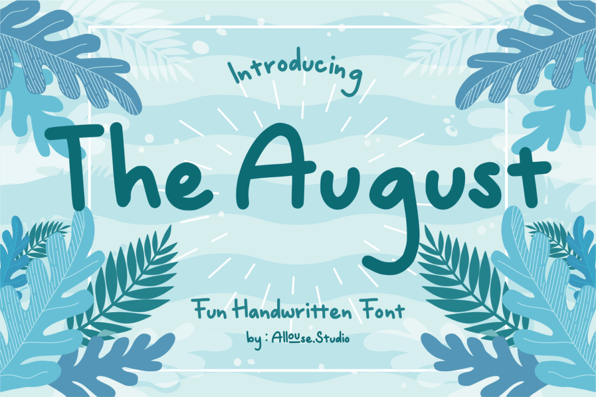 The August - Fun Handwritten Font in Decorative Fonts