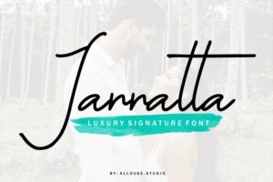 Jannatta - Luxury Signature Font in Calligraphy Fonts