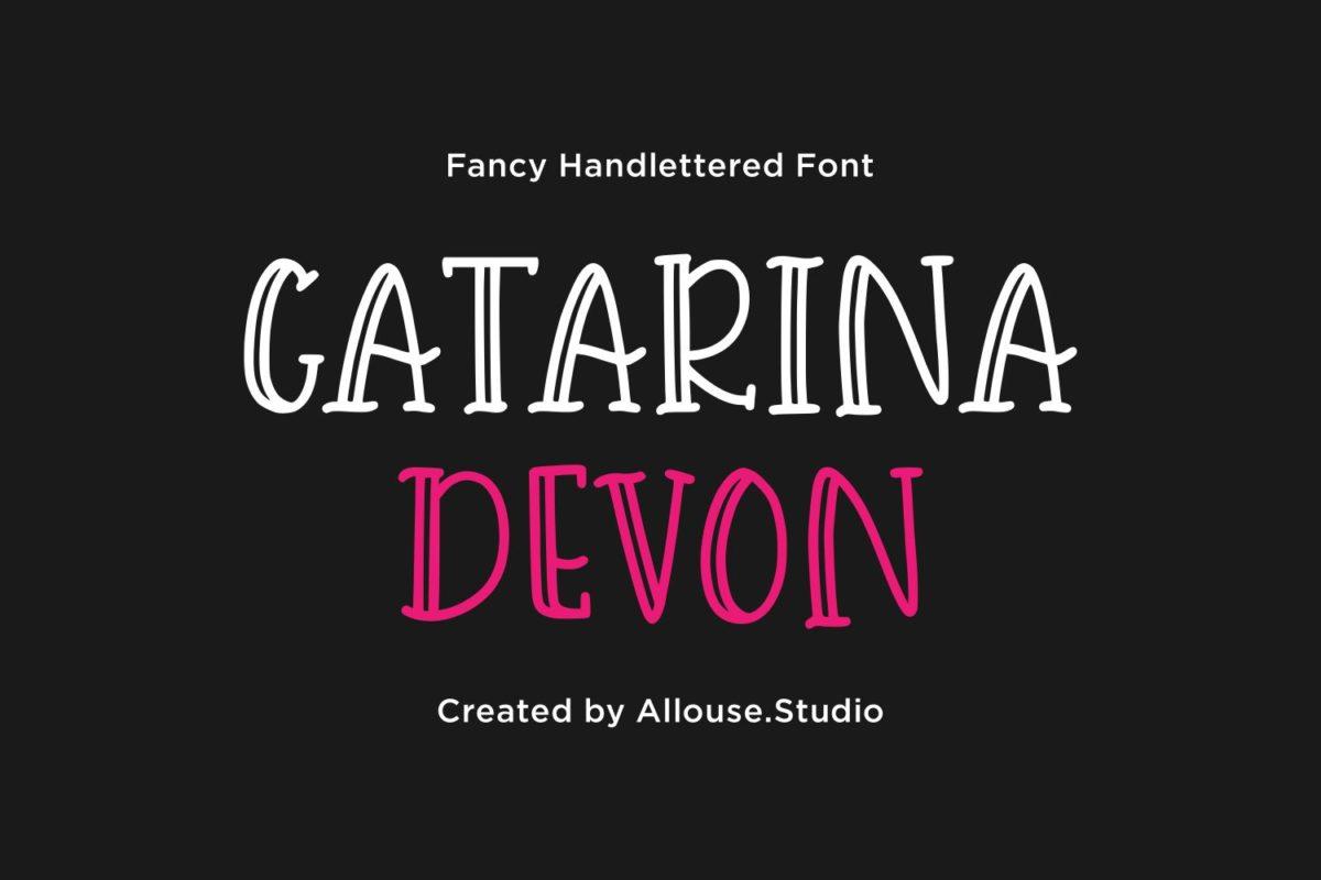 Catarina Devon - Fancy Handlettered Font in Decorative Fonts
