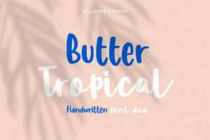 Butter Tropical - Handwritten Font Duo in Display Fonts