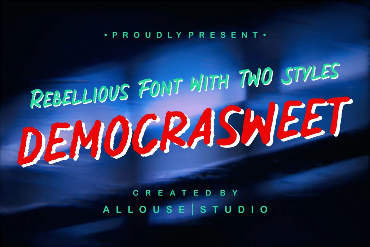 Democrasweet - Rebellious Handwritten with Two Styles in Brush Fonts