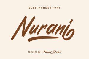 Nurani - Bold Marker Font in Calligraphy Fonts