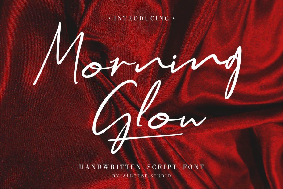 Morning Glow - Handwritten Script Font in Script Fonts