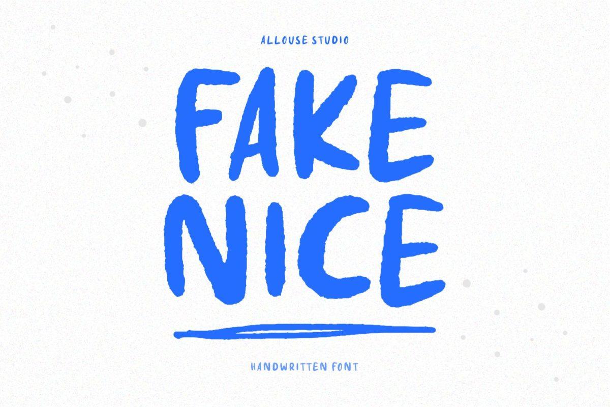 Fake Nice - Handwritten Font in Brush Fonts