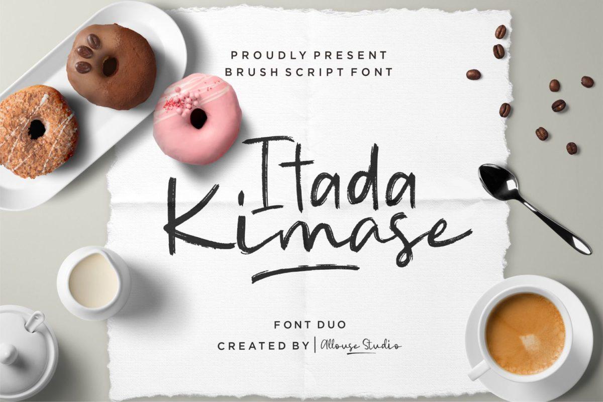 Itadakimase - Brush Font With Duo Style in Brush Fonts