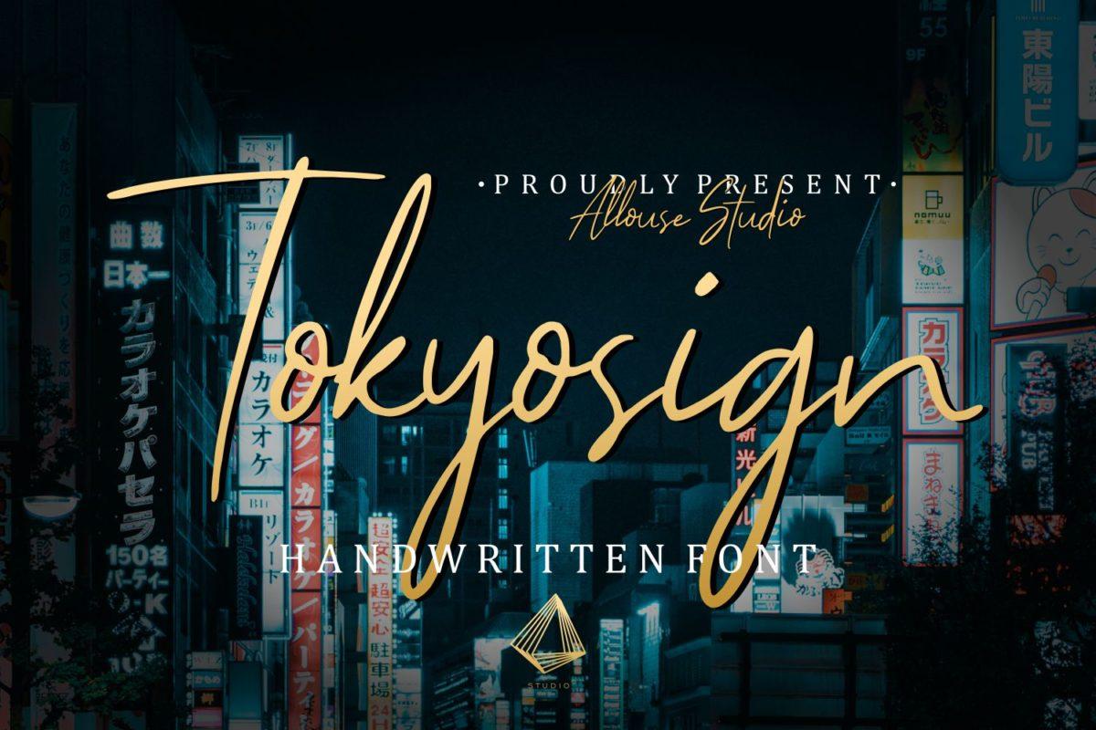 Tokyosign - Handwritten Font in Script Fonts