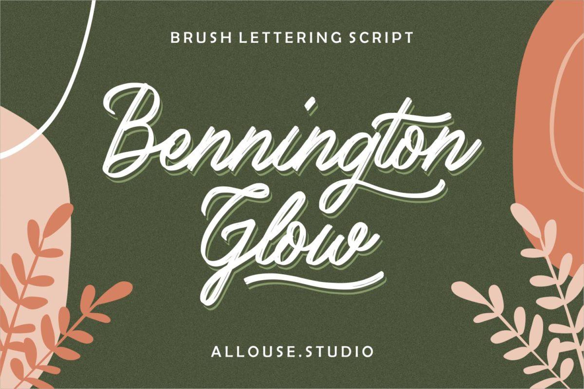 Bennington Glow - Brush Lettering Script in Brush Fonts