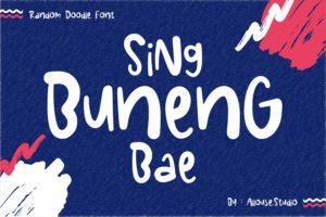 Sing Buneng Bae - Random Doodle Font in Decorative Fonts