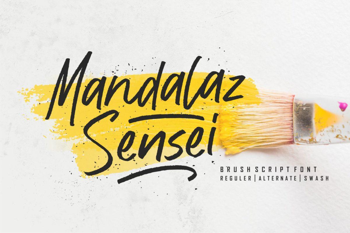 Mandalaz Sensei - Brush Script Font in Script Fonts