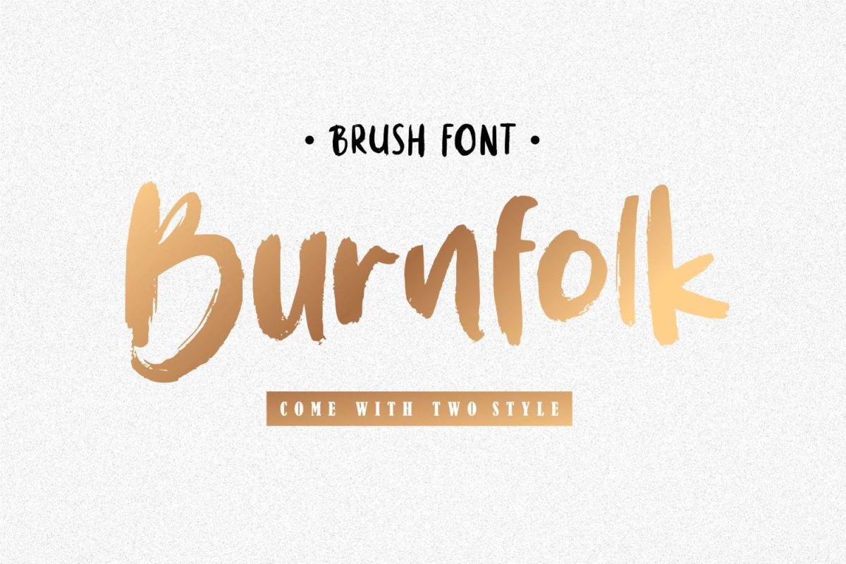 Burnfolk - Brush Font in Brush Fonts