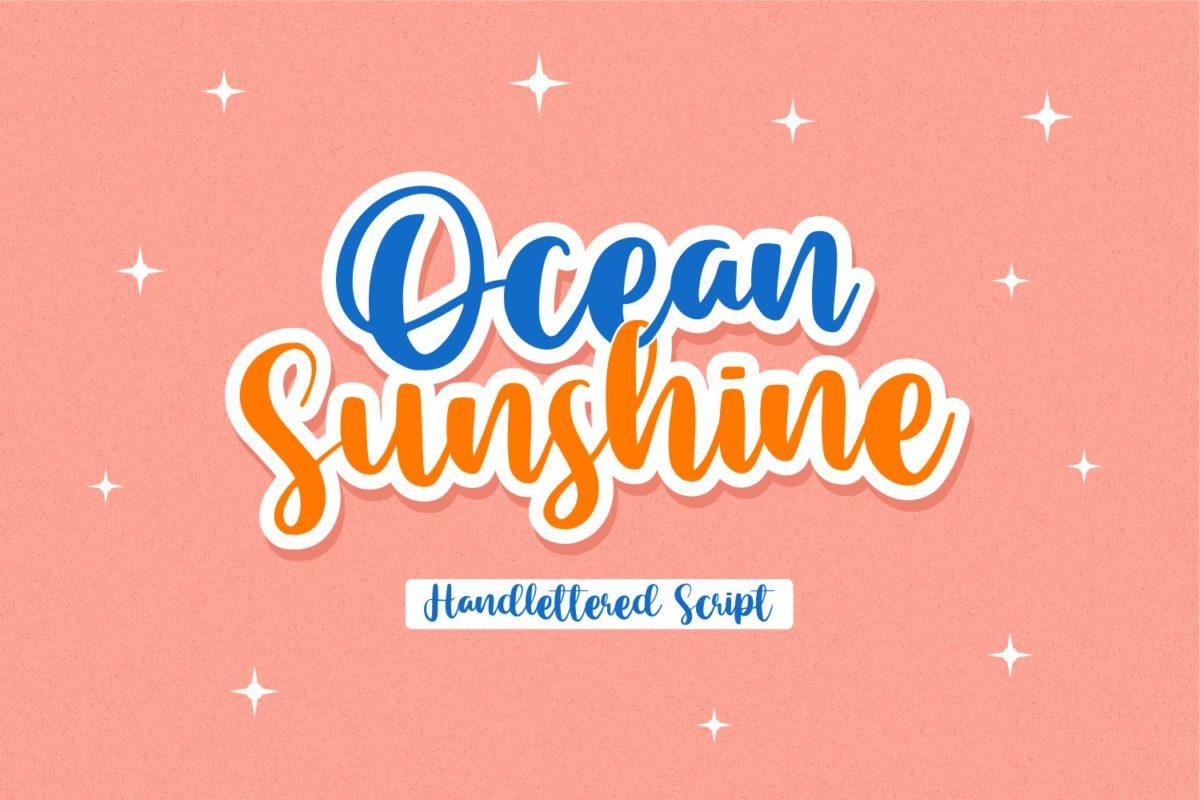 Ocean Sunshine - Handlettered Script Font in Decorative Fonts