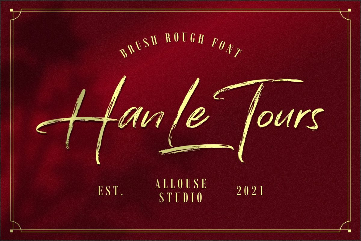 Han Le Tours - Brush Rough Font in Brush Fonts
