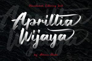 Aprillia Wijaya - Handmade Lettering Font in Brush Fonts