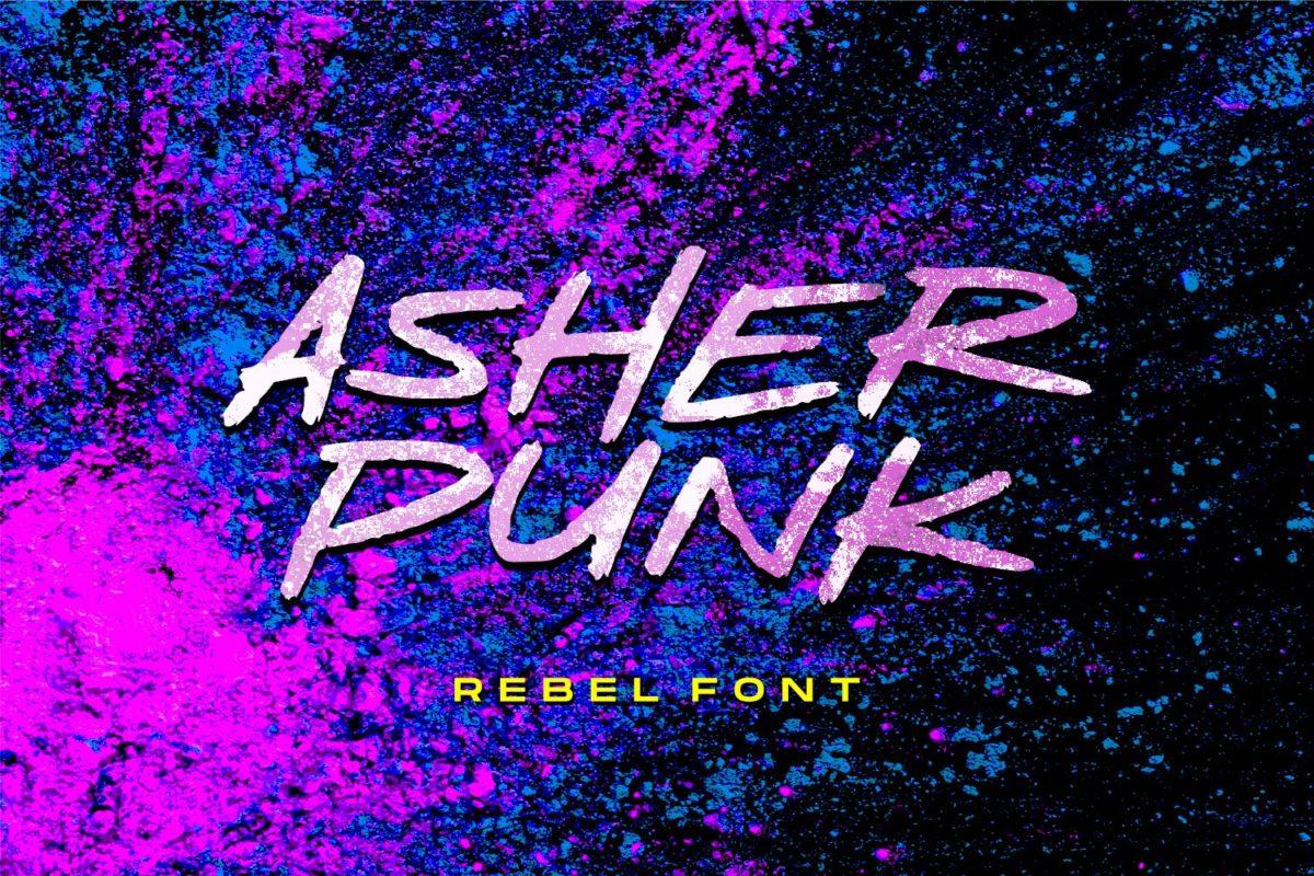 Asher Punk - Rebel Handwritten Font in Brush Fonts