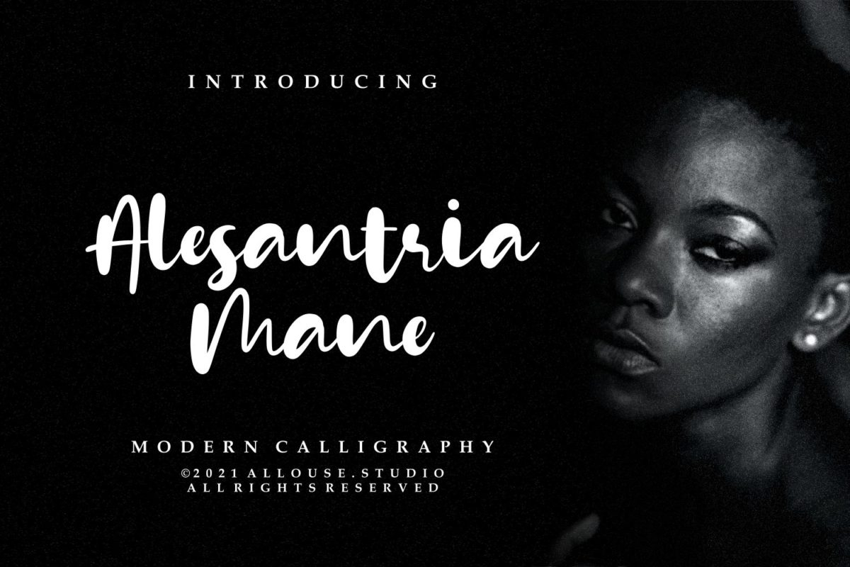 Alesantria Mane - Modern Calligraphy Font in Calligraphy Fonts
