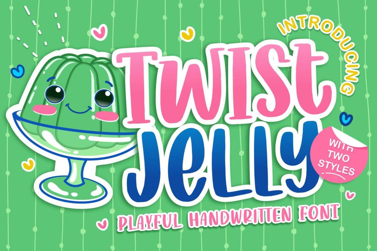 Twist Jelly - Playful Handwritten Font in Decorative Fonts